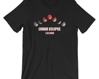 Total Lunar Eclipse Shirt Eclipse Cycle T-Shirt UNISEX Astronomy Gift