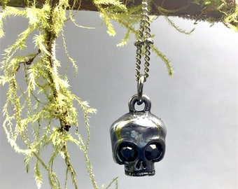 Skull Pendant Necklace, Gothic Halloween Necklace
