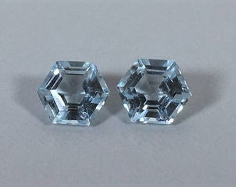 Aquamarine, Hexagon Shape, 1.13 carat total weight
