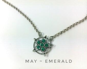 Military Star Jewelry, Deployment Jewelry, Military Mom, Military Wife, Deployment Necklace, Military Necklace, Birthstone May