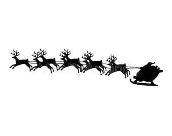 Santa Sleigh SVG FILE