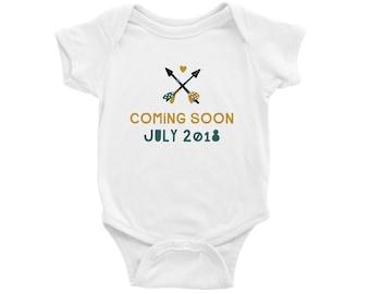 Custom Baby Announcement Onesie®,  Pregnancy Announcement Onesie, Pregnancy Reveal Onesie, Surprise Baby Onesie, Coming Soon Onesie