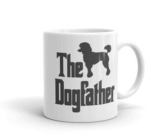 The Dogfather mug, poodle silhouette, funny dog gift mug, The Godfather parody, dog lover mug, poodle lover mug, poodle owner gift