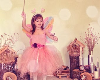 Pink Tutu Dress Handmade size 104 Princess Dress Flower Girl Dress Kids Costume Tulle