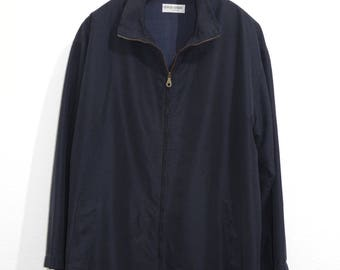 Giorgio Armani Parka Jacket Oversized L/XL Navy Blue 90s Army Military Style