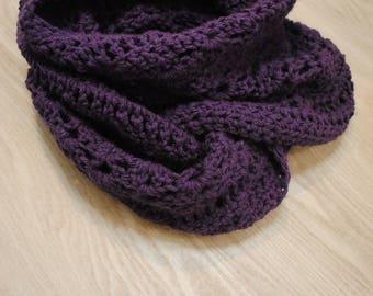 Custom made crocheted infinity scarf