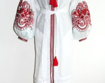 Embroidered dresses Kaftan Abaya Dress Bohemian Clothes Vyshyvanka Dress Ukrainian Embroidery Boho Clothes Vishivanka Ukraine Open in front