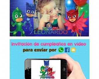PJ Masks  Invitación en vídeo