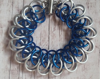 Doctor Who inspired chainmaille bracelet -Arkham -Tardis