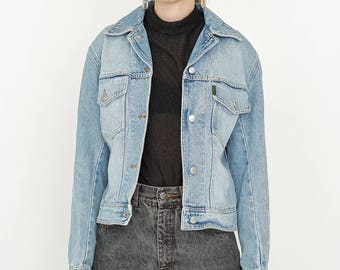 VINTAGE Blue KATHARINE HAMNETT Denim Retro Jacket