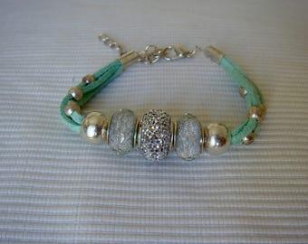 Alcantara Aquamarine Bracelet
