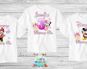 Mickey Mouse birthday shirt,Custom shirt ,personalized Mickey Mouse Shirt, family shirt,birthday shirt,kids custom birthday shirt d19