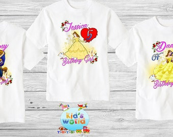 Beauty And The Beast  birthday shirt,Custom shirt ,personalized custom Shirt, family shirt,birthday shirt,kids custom birthday shirt d23