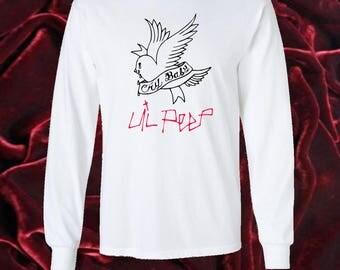 Lil Peep, cry baby, very rare graphic long sleeve shirt