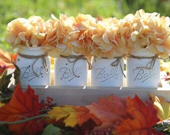 Mason Jar Home Decor,Mason Jar Centerpice,Table Centerpiece,Mason Jar,Rustic Country Home Decor,Painted Mason Jars,Farmhouse Decor,Ball