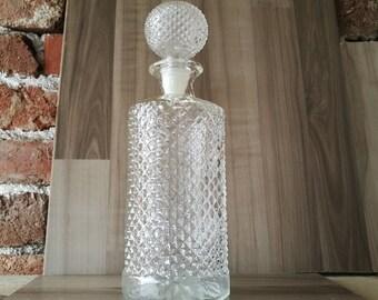 Count / Glass bottle / A bottle of alcohol / Bottle for liquids / Glass bottle for liquids / Engraved bottle for liquids / Bottle with plug