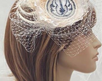 Star Wars Wedding  - Star Wars Bride -  Beaded Wedding Hairpiece - Bridal Hairpiece - Star Wars Wedding Accessories  - Jedi Bridal