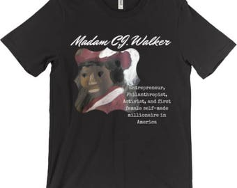 Madam C.J. Walker T-Shirt - Badass Ladies of History - Feminist Shirt