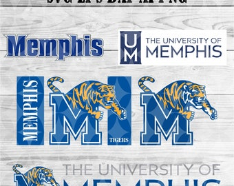 university of Memphis svg,team,logo,svg,png,eps,dxf,files for cricut,silhouette,collegiate,ncaa,banner,shirt,Tigers,decal,vinyl,football svg