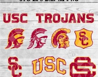 university of California svg,team,logo,svg,png,eps,dxf,cricut Files,silhouette,collegiate,ncaa,banner,USC Trojans,decal,vinyl,football svg