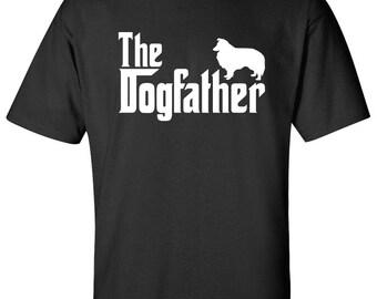 The Dogfather Shetland Sheepdog Shetlie Dog Logo Graphic TShirt
