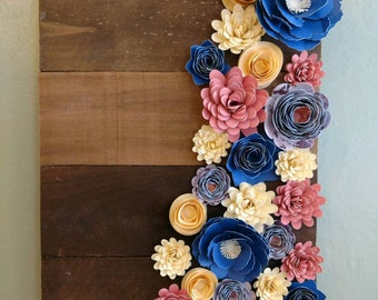 """16"""" Pallet Sign with Paper Flowers"""