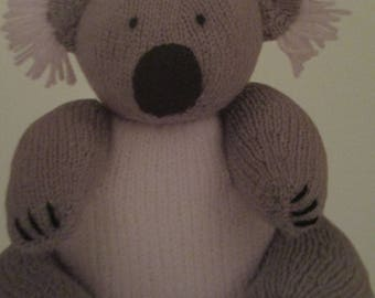 Handmade Knitted Knoala Bear, Part Of Wild Animal Collection (New, Made To Order) 3+