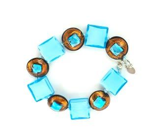 Azzurra Venetian Glass Bracelet