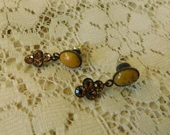 Crystal Earrings, Bohemian Style Earrings, Resin Earrings, Dangle Earrings