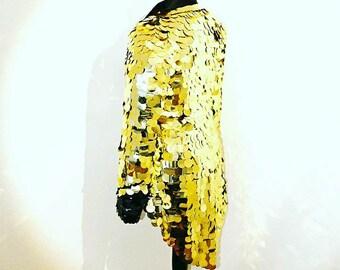Black Gold Ringmaster Festival Sequin Tail coat Tailcoat jacket