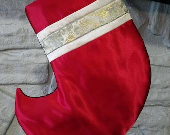 Handmade Silk Christmas Stocking, fully lined,