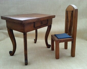 Desk with miniature chair