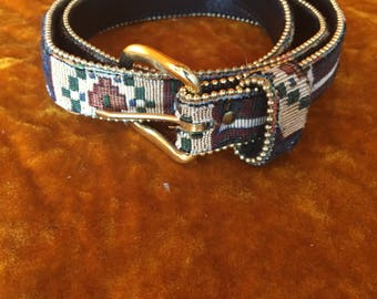 Vintage 1990s Tapestry Belt