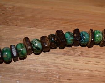 Handbeaded Dyed Imperial Jasper Bracelet