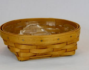 Longaberger Small Catch All Basket with Protector