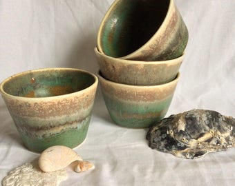 porcelain tumbler with glaze detail