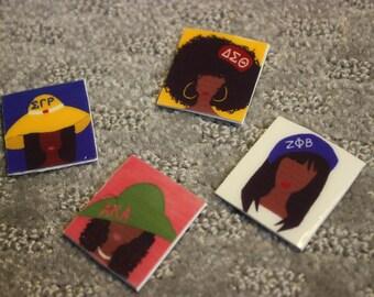 Delta Sigma Theta/Sigma Gamma Rho/ Alpha Kappa Alpha/Zeta Phi Beta Sorority Pins!