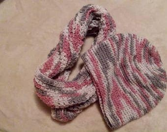 Handmade Hat and Infinity Scarf set
