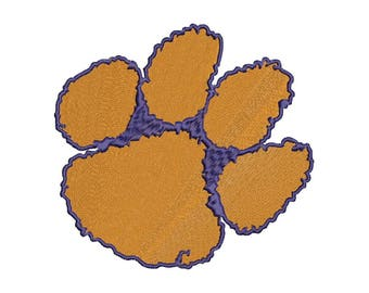5 SIZE Clemson Tigers football Embroidery Designs Football Embroidery Designs Football Logo PES Embroidery Football Applique