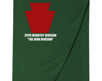 28th Infantry Division Embroidered Blanket-7467