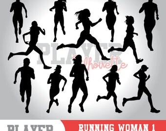 Running Women SVG, Running Sport svg, Runner digital clipart, athlete silhouette, Running Women, cut file, design, A-049