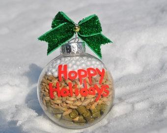 Hops Malt Snow Beer Holiday Ornament