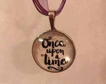 Once Upon a Time Glass Pendant