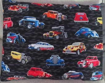 Quillow - Theme - Hot Rods on a Black & Gray Flame Background