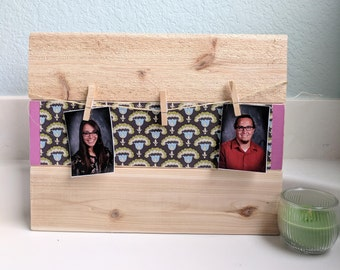Clothespin Picture holder/Wooden Wall decor