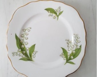 Royal Vale Lily of the Valley Vintage Bone China Tea Plate
