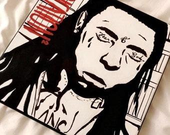 Customized Art, Handpainted Canvas, Room Decor, Wall Decor, Art Print - Lil Wayne, Rapper, Dedication 2