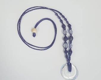 Clear Quartz Macrame Necklace
