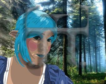 Blue Elf Girl