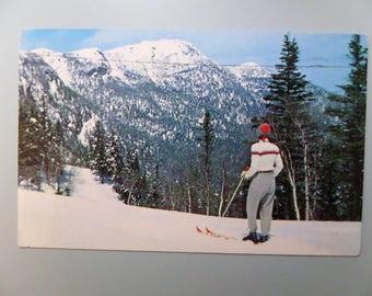 Vintage Stowe VT Postcard Summit of MT Mansfield Vermont 1957